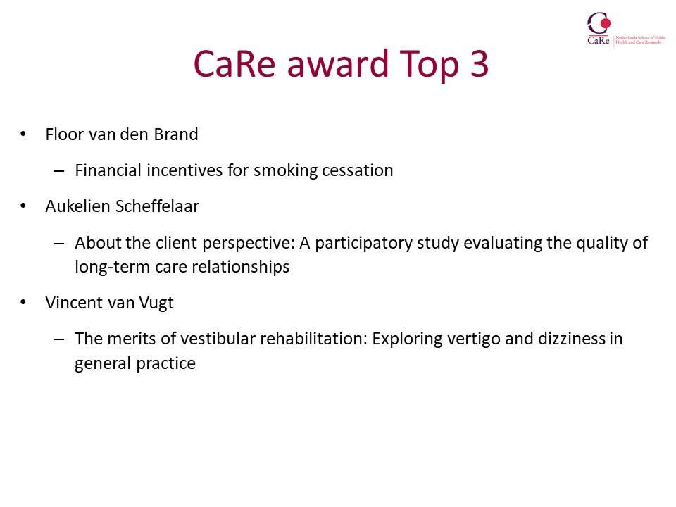 Top-3-CaRe-award